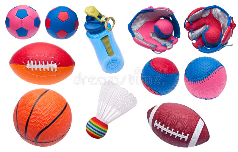 Download Variety Of Toy Sports Objects Stock Photo - Image: 14854806