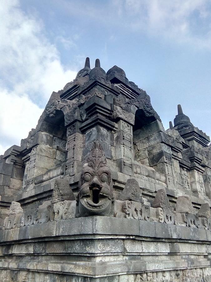 Borobudur temple in Magelang, Central Java, Indonesia. A variety of uniqueness in the Borobudur temple in Magelang, Central Java, Indonesia royalty free stock photos
