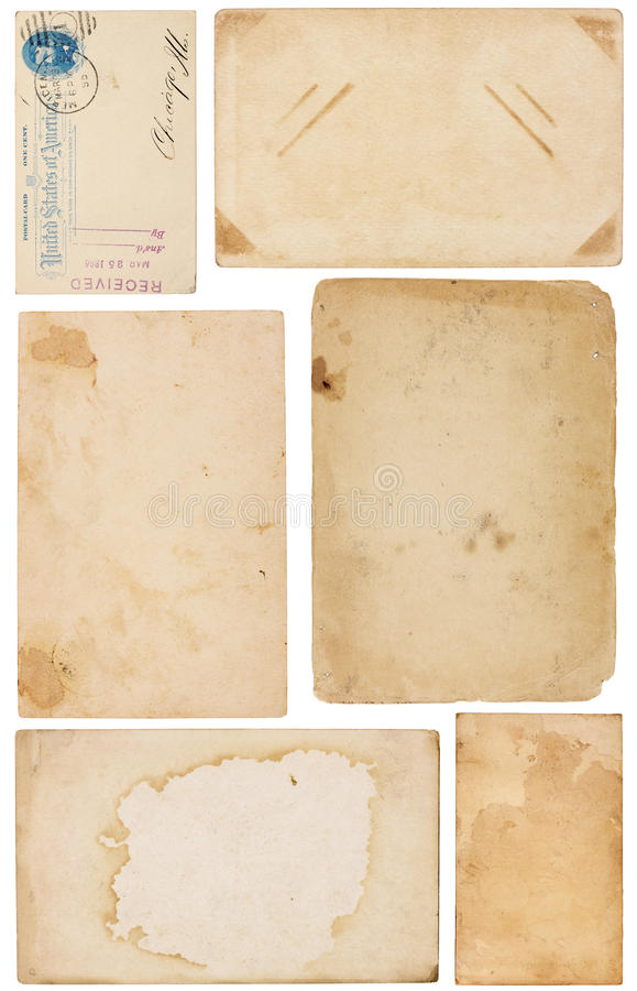 Variety of Vintage Paper Scraps royalty free stock photography