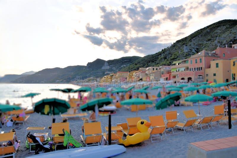 Varigotti-Strand, Ligurien, Italien stockfotografie