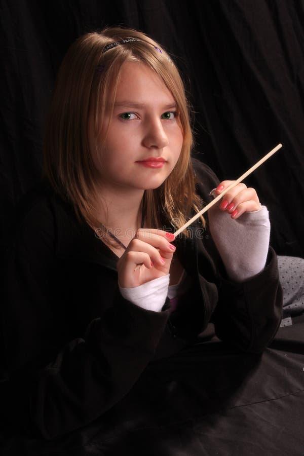 Varinha adolescente imagem de stock royalty free
