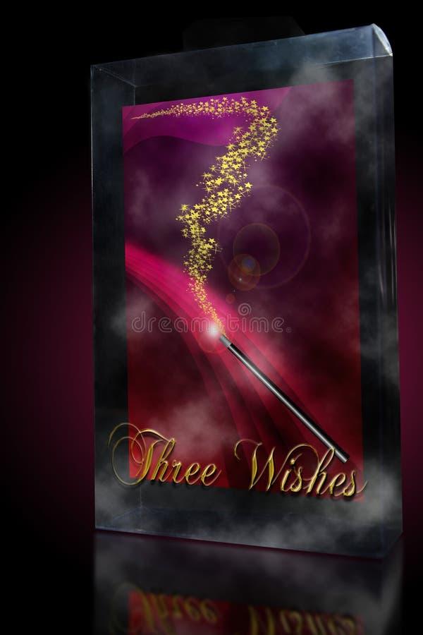 Varinha da mágica de três desejos ilustração stock