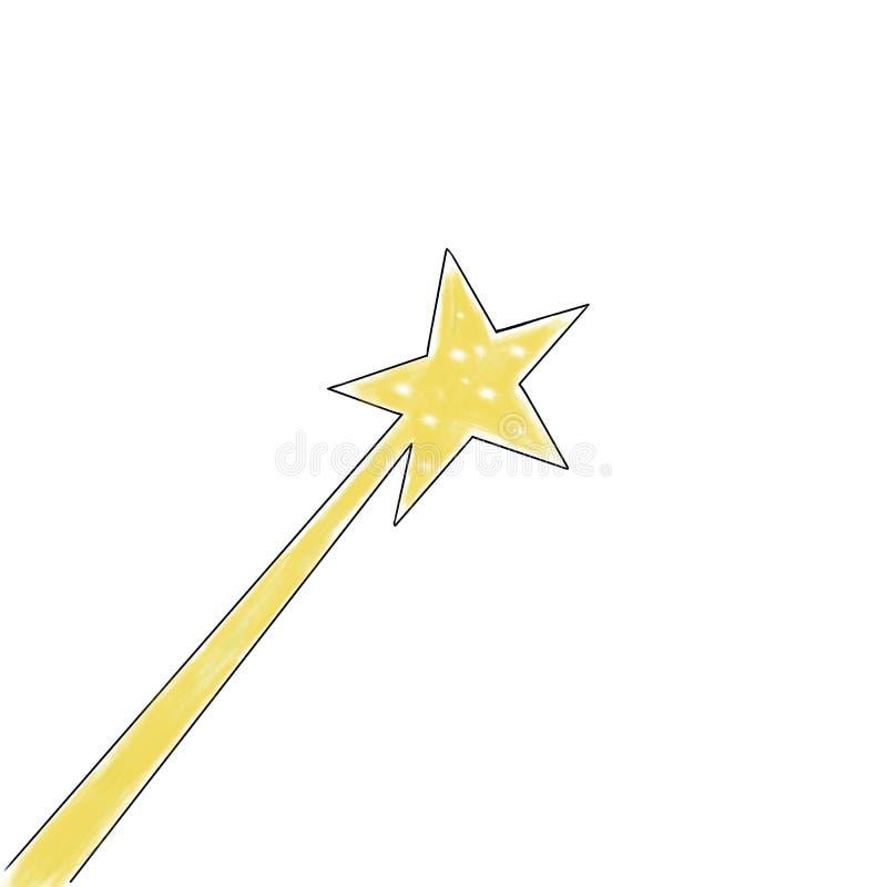 Varinha da mágica do conto de fadas ilustração stock
