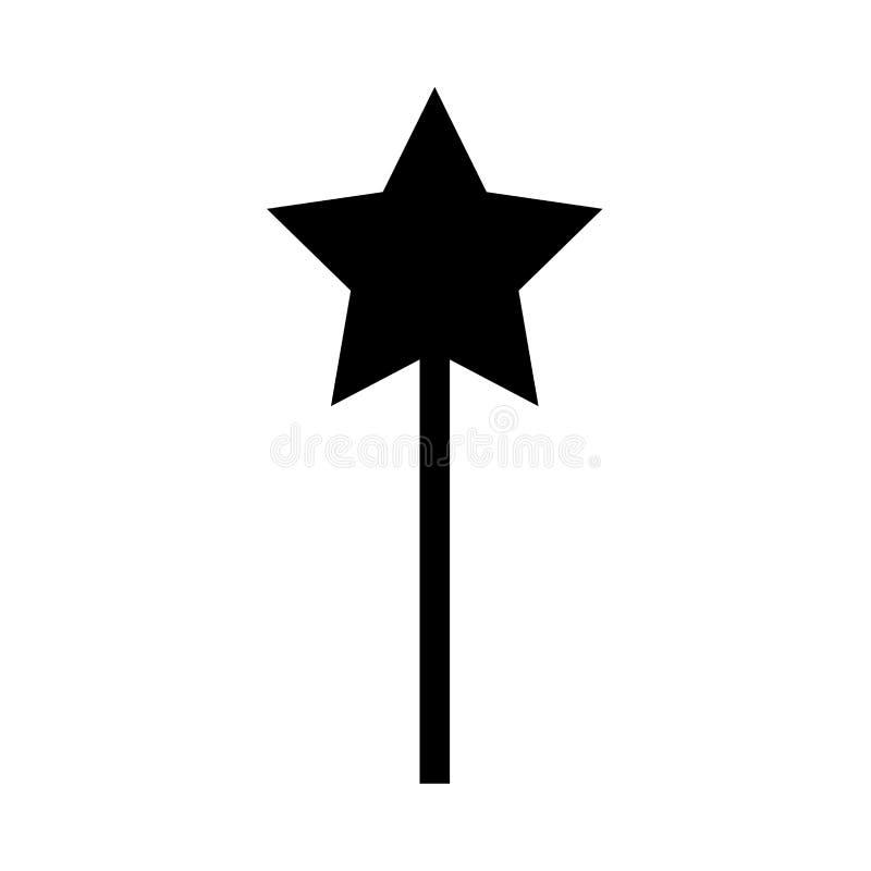 Varinha mágica é ícone preto ilustração royalty free