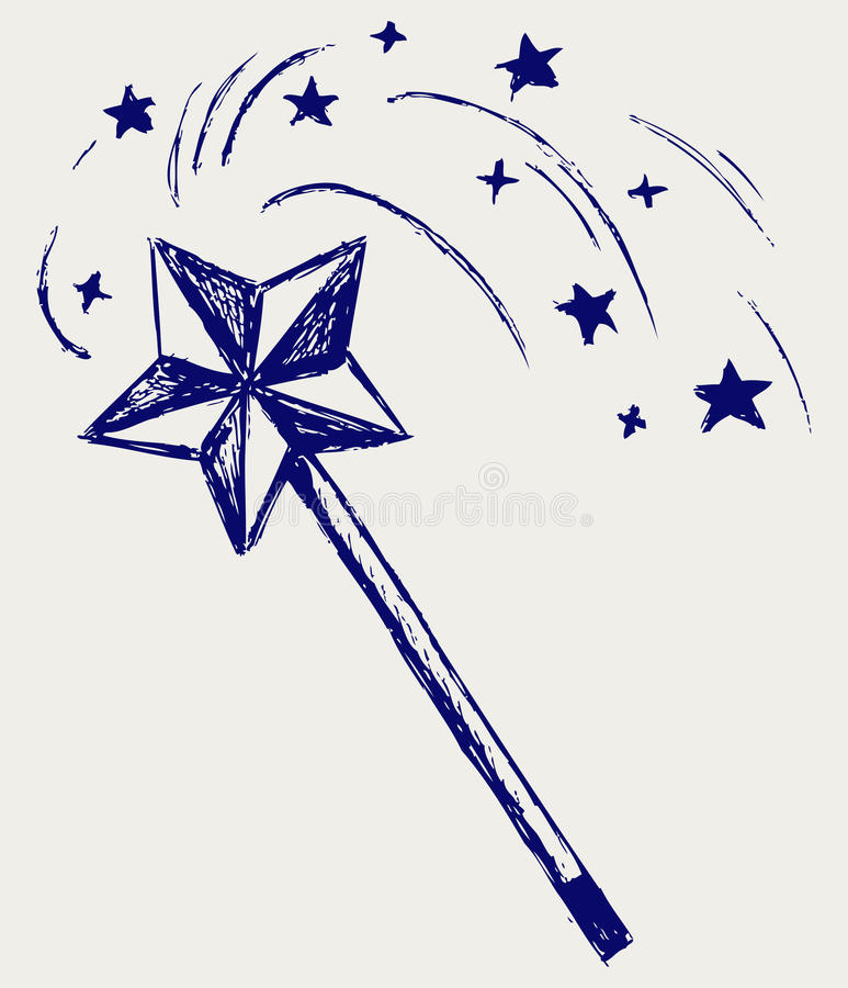 Download Varinha mágica ilustração do vetor. Ilustração de mão - 26513732