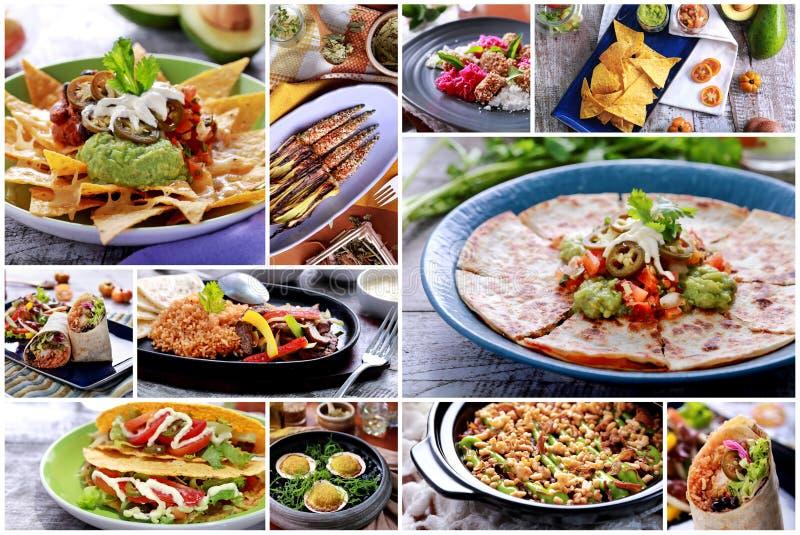 Vario buffet messicano dell'alimento, fine su immagini stock