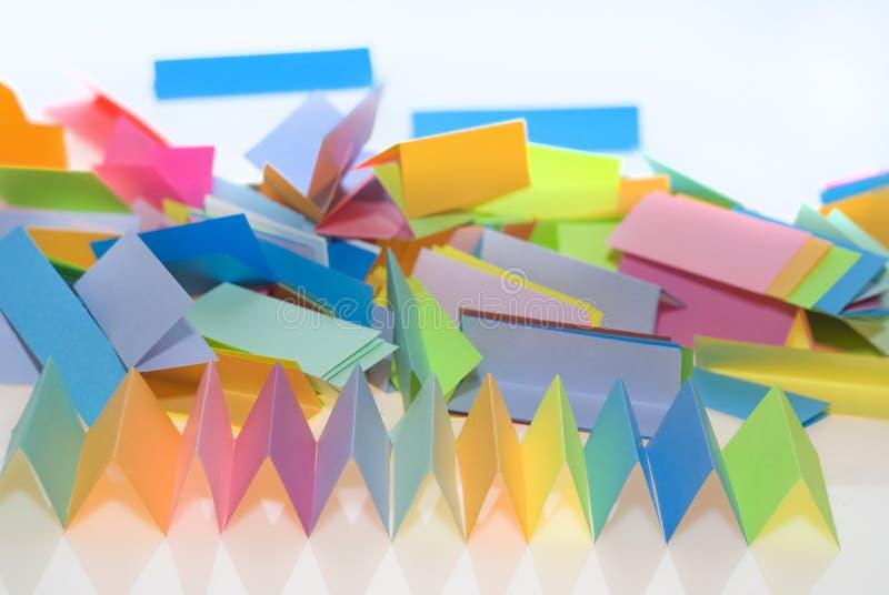 Vario papel del color fotos de archivo