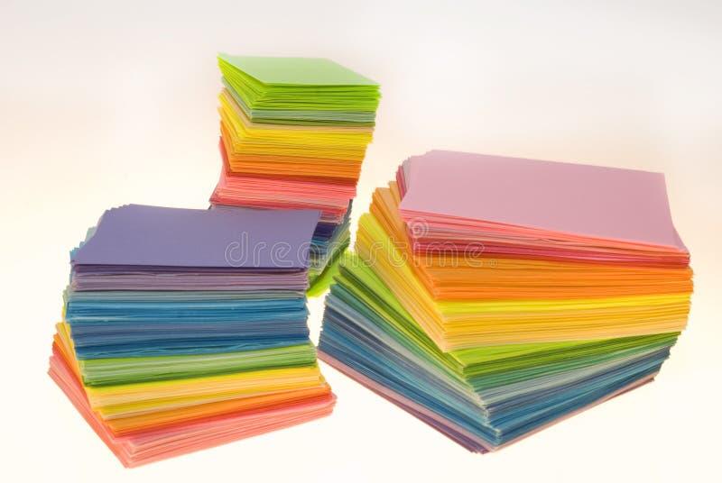 Vario papel del color fotografía de archivo