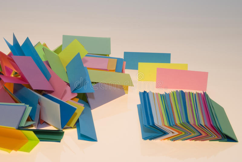 Vario papel del color foto de archivo