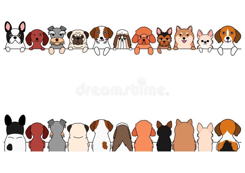 Vario piccolo insieme del confine dei cani royalty illustrazione gratis