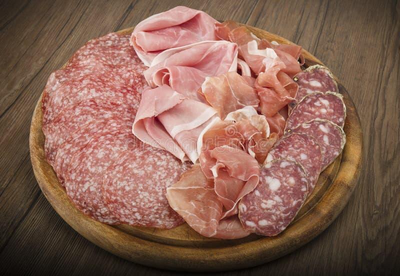 Vario salame italiano immagine stock