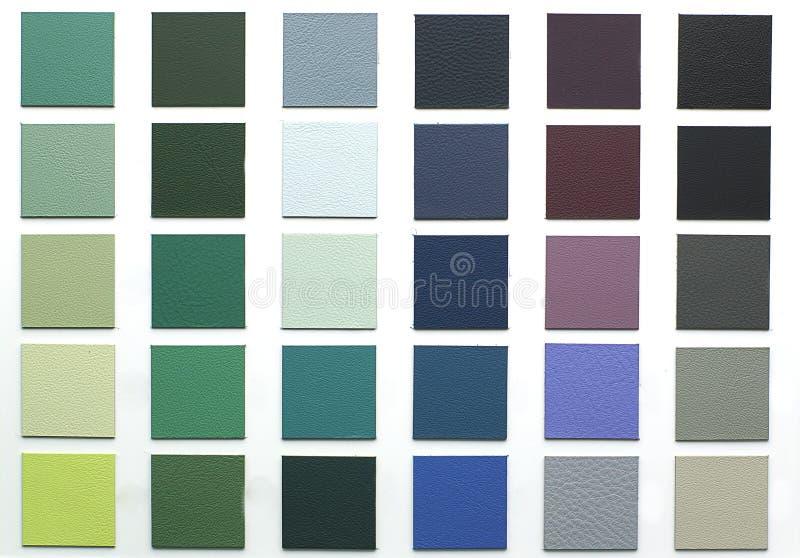 Vario struttura del cuoio di colore fotografia stock libera da diritti