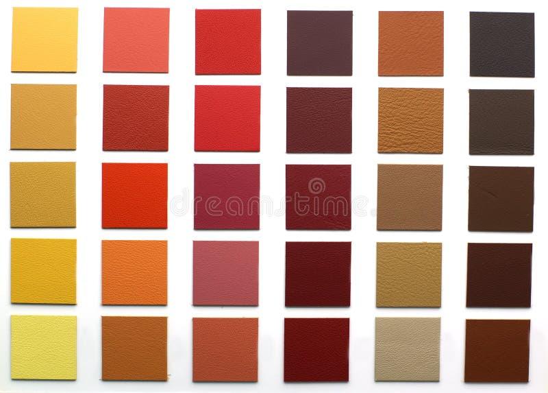 Vario struttura del cuoio di colore fotografia stock