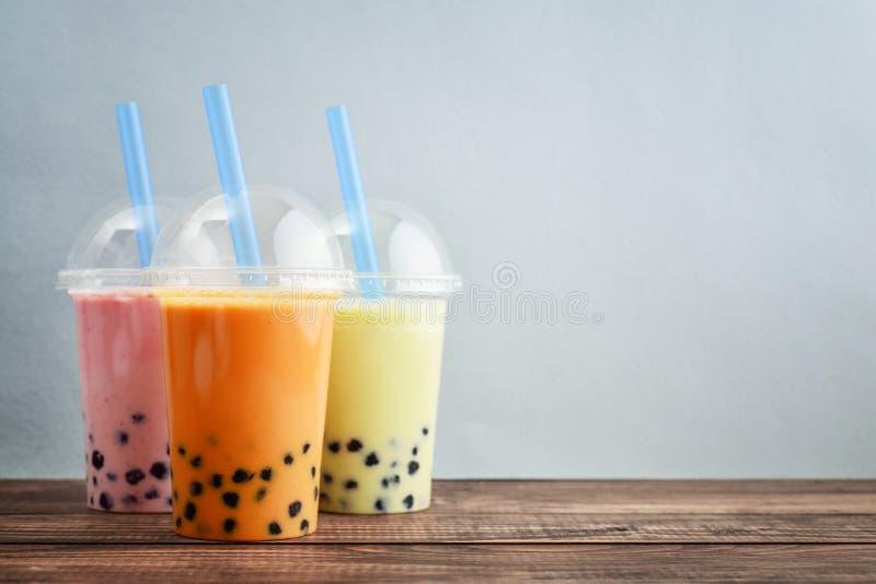 Vario tè della bolla fotografia stock libera da diritti