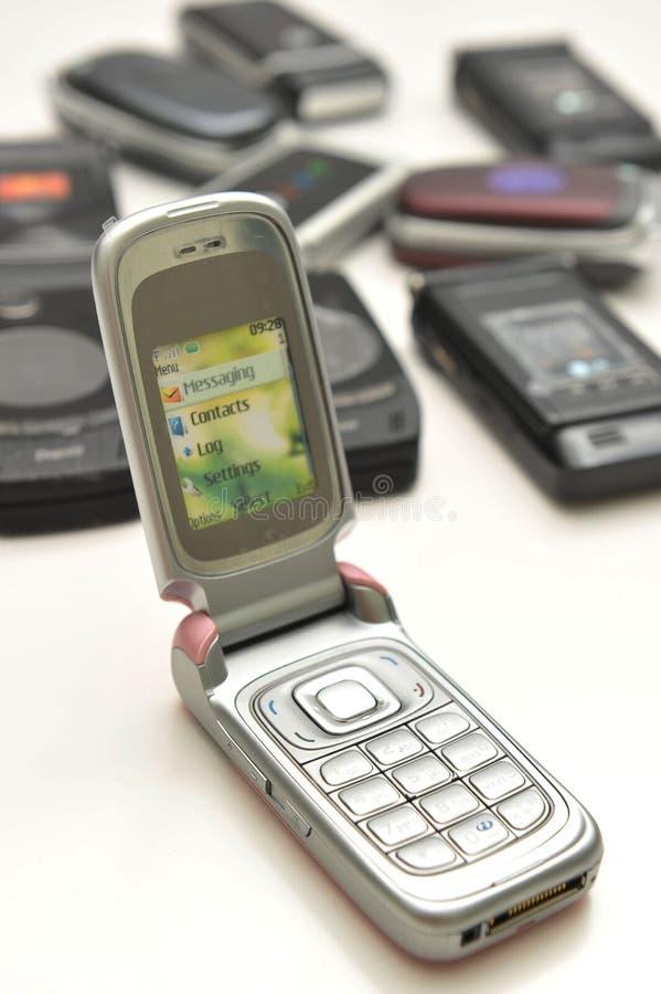 Vario tipo de teléfono celular foto de archivo libre de regalías