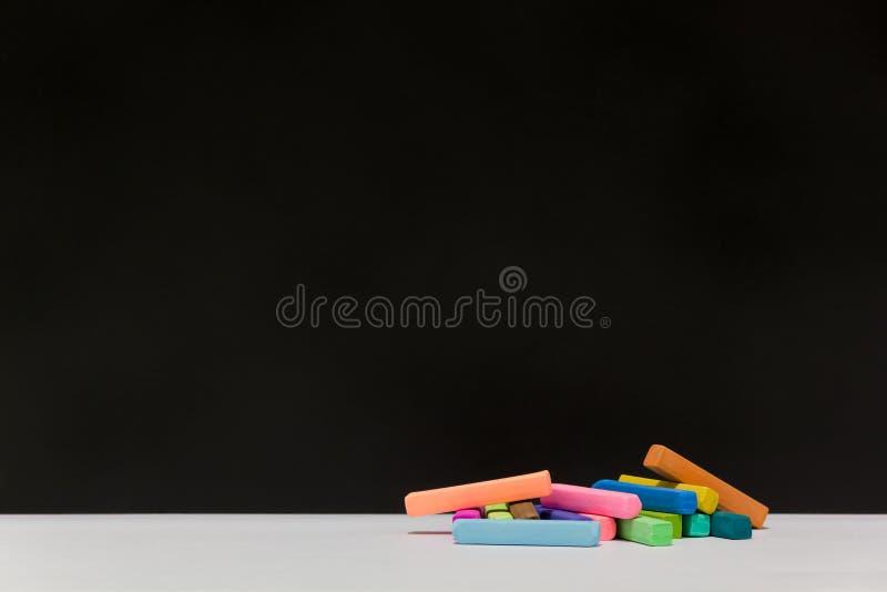 Variopinto dei pastelli del gesso immagini stock