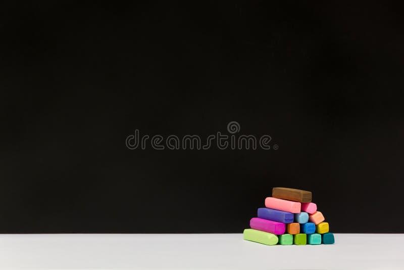 Variopinto dei pastelli del gesso fotografia stock