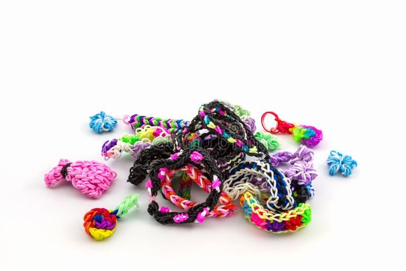 Variopinto delle bande elastiche del telaio dell'arcobaleno fotografia stock