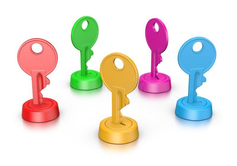 Variopinto digita la serratura illustrazione di stock
