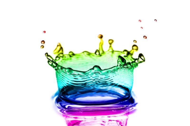 Variopinto spruzza dell'acqua fotografia stock