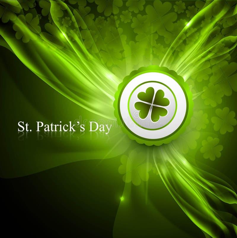 Variopinto verde lucido di giorno del patrick santo illustrazione di stock