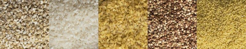 Varios cereales imagenes de archivo