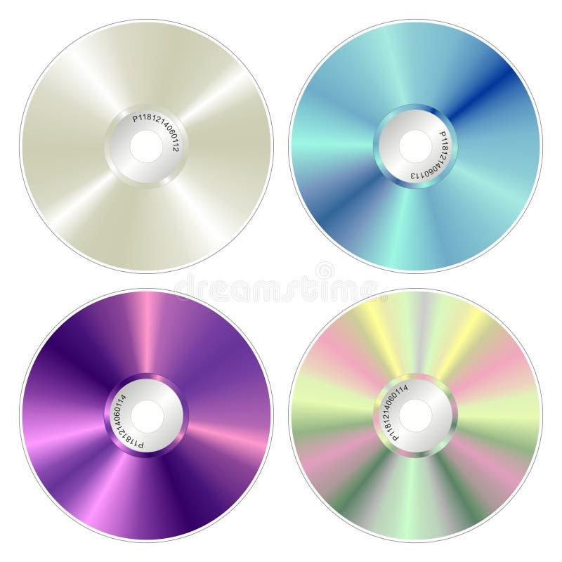 Varios compact-disc del color stock de ilustración