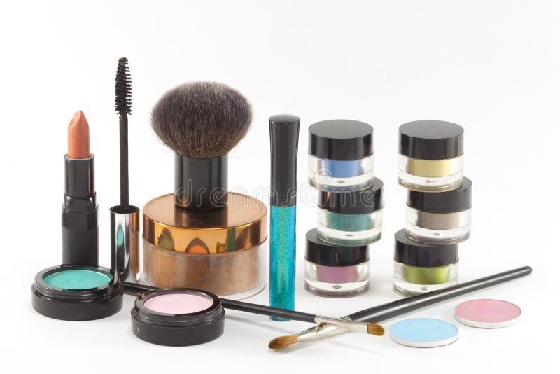 Varios cosméticos del maquillaje. fotografía de archivo libre de regalías