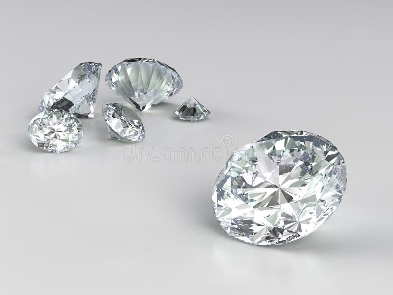 Varios diamantes stock de ilustración
