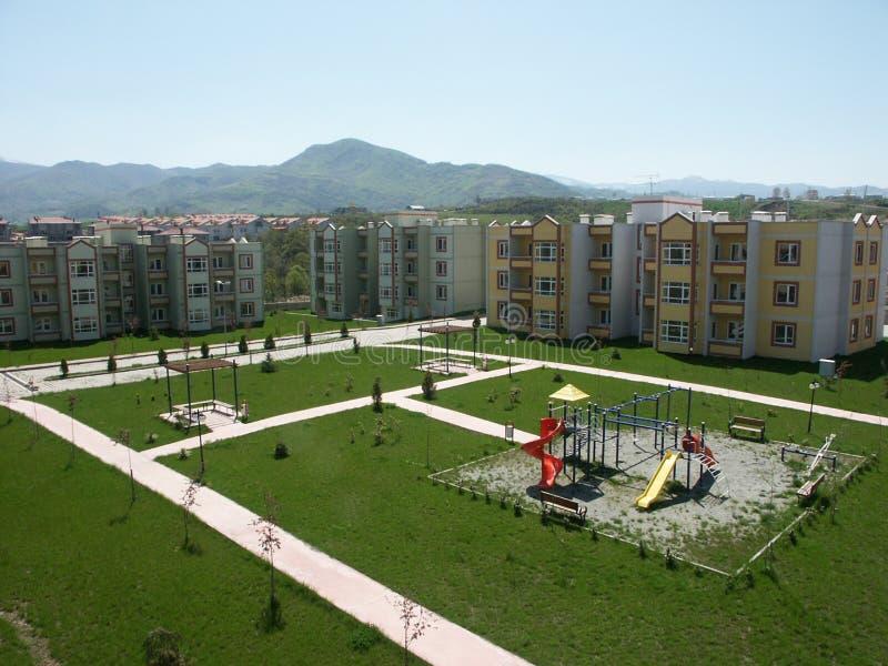 Varios edificios de diversas regiones de muestras de Turquía, de la vivienda de protección oficial y de los edificios industriale imagenes de archivo