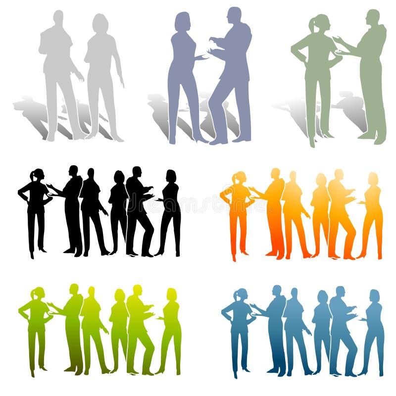Varios grupos de colaboración libre illustration