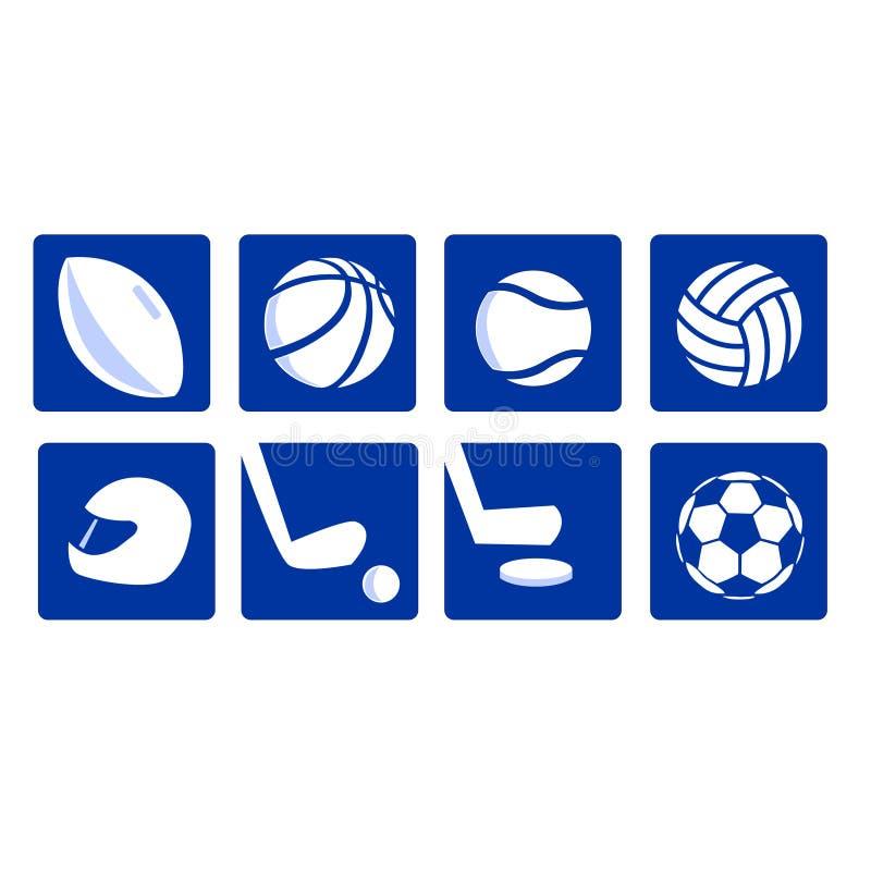 Varios iconos del deporte vectored stock de ilustración