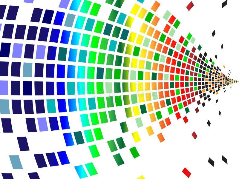 Varios pixeles de los colores ilustración del vector