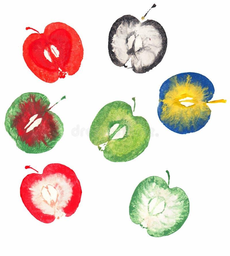 Varios sellos de la manzana libre illustration