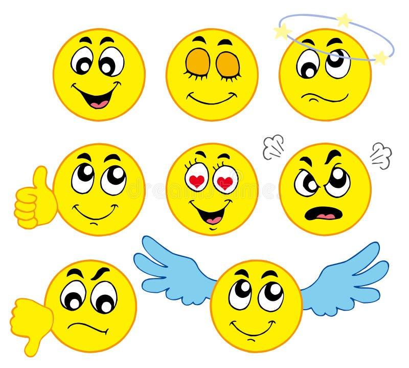 Varios smiley 1 stock de ilustración