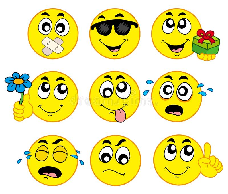 Varios smiley 2 ilustración del vector