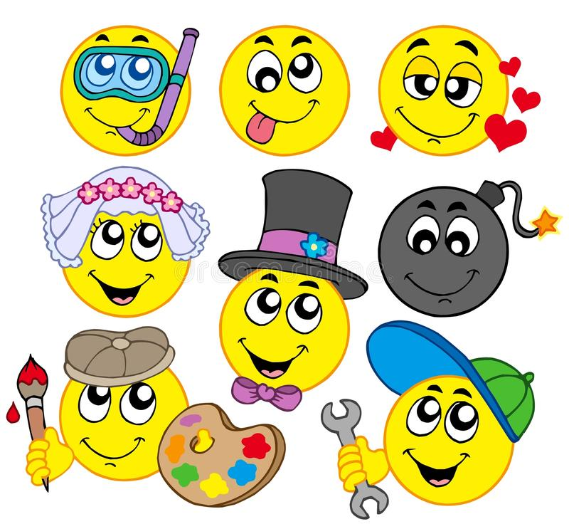 Varios smiley 5 ilustración del vector