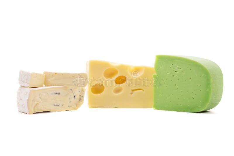 Varios tipos de composición del queso foto de archivo