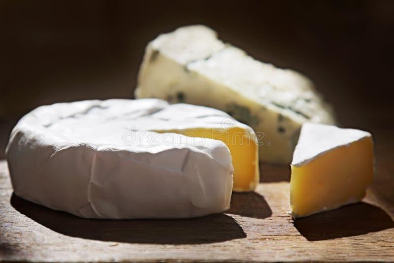 Varios tipos de composici?n del queso fotografía de archivo libre de regalías
