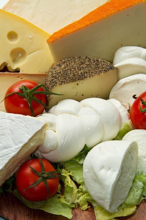 Varios tipos de queso foto de archivo