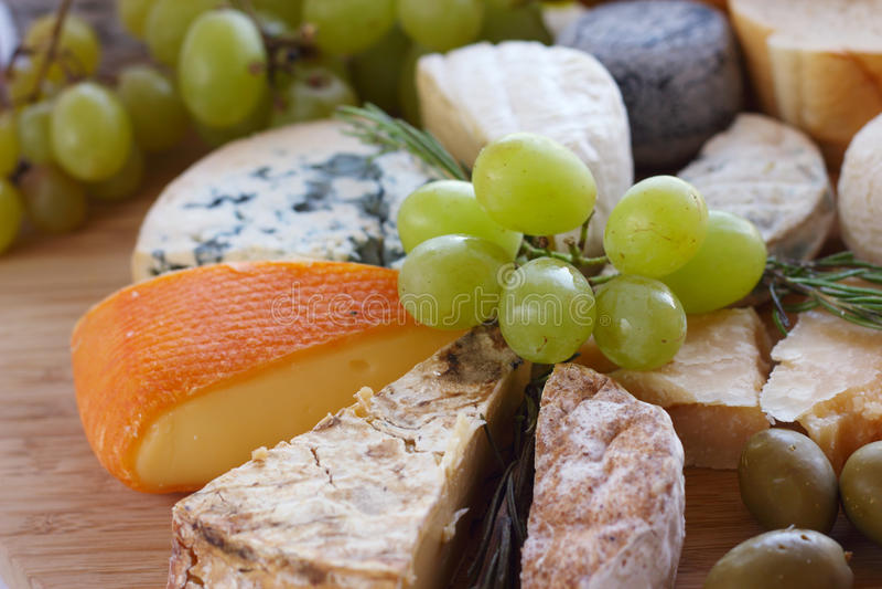 Varios tipos de queso fotografía de archivo