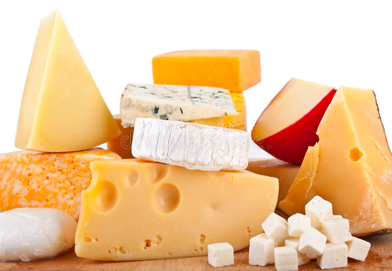 Varios tipos de queso fotografía de archivo libre de regalías