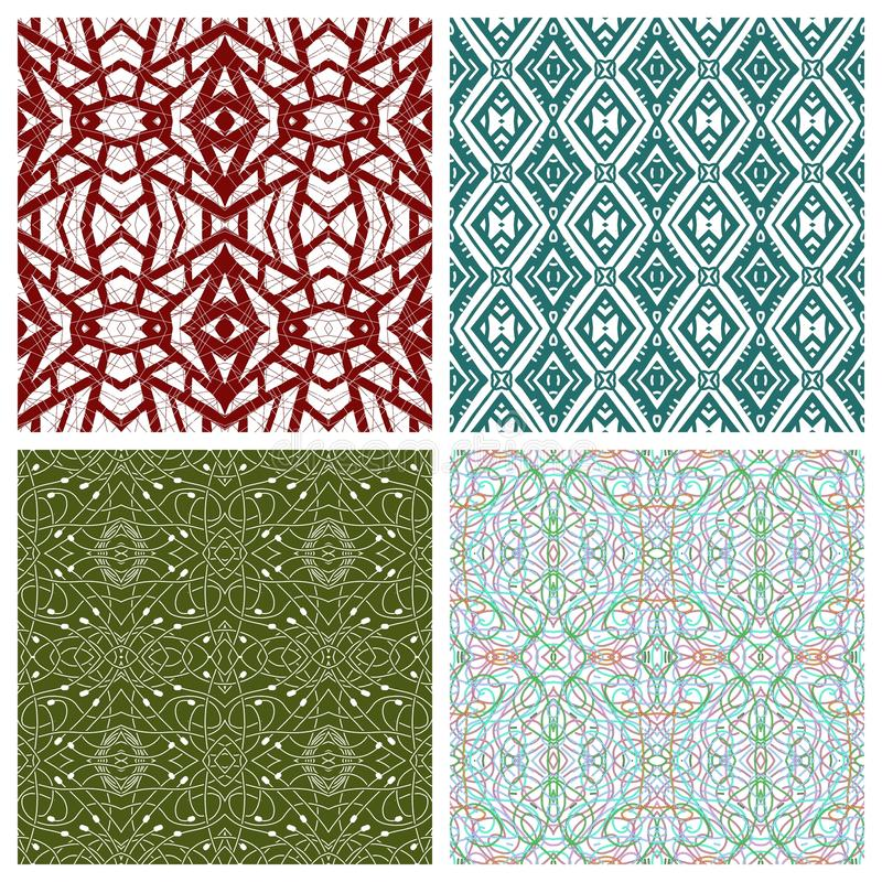 Various abstract patterns royalty free illustration