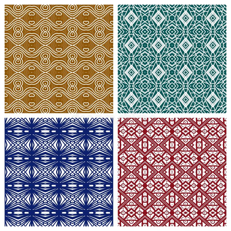 Various abstract patterns stock illustration
