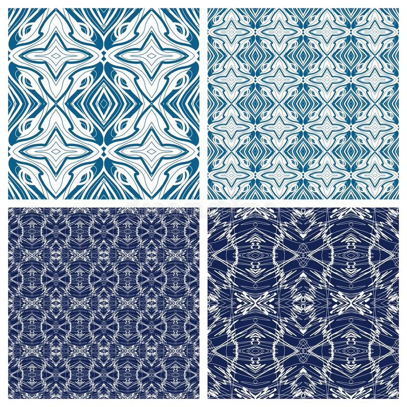 Various abstract patterns stock photography