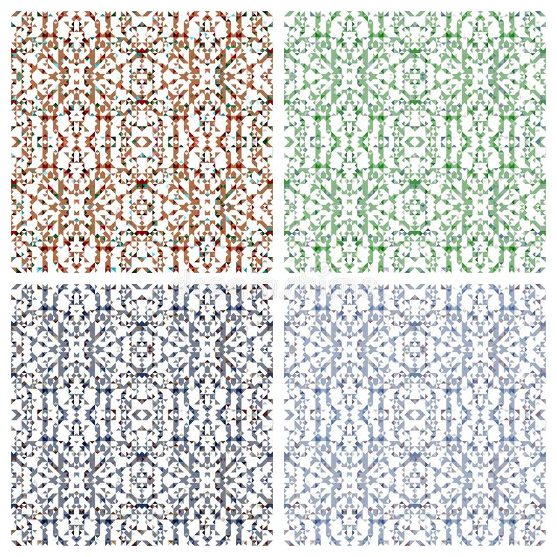 Various abstract patterns stock images
