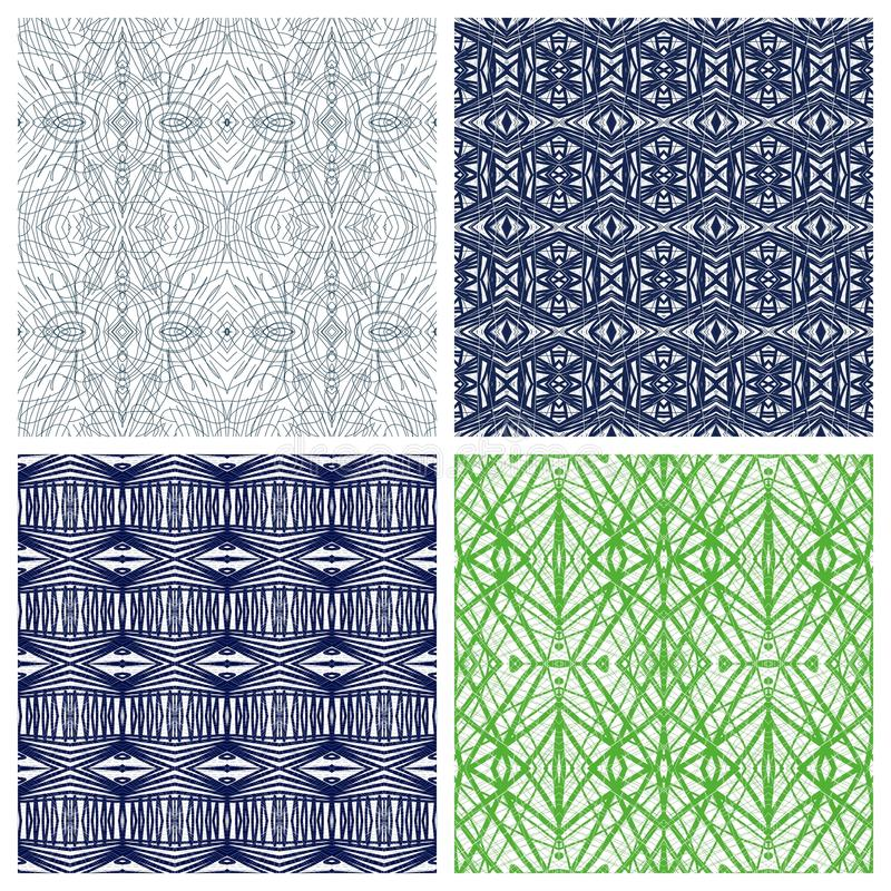 Various abstract patterns vector illustration