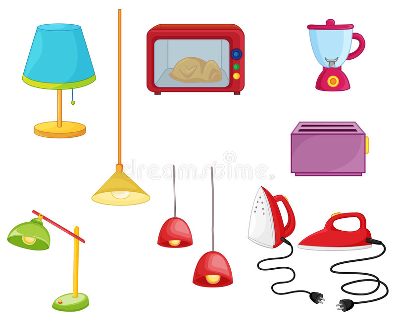 Various appliances vector illustration