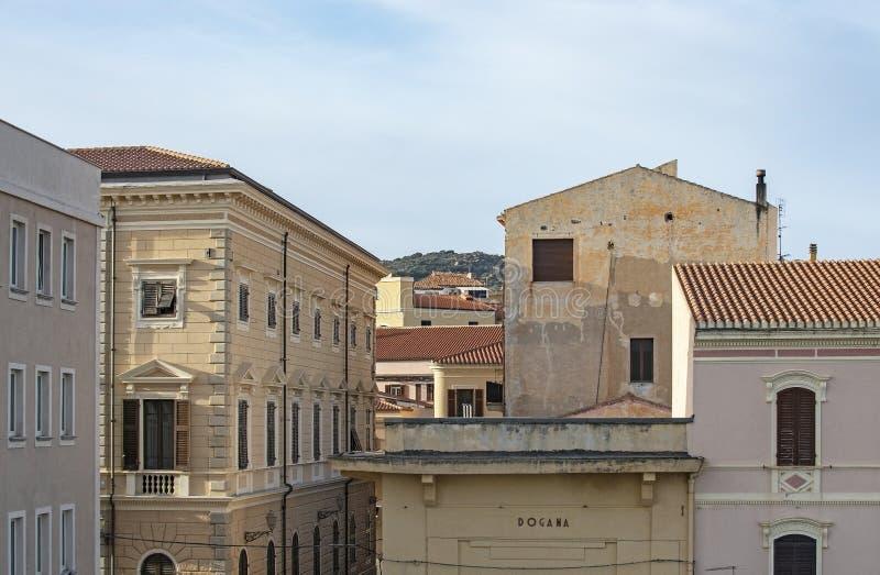 Various architecture styles in La Maddalena Sardinia Italy stock photos