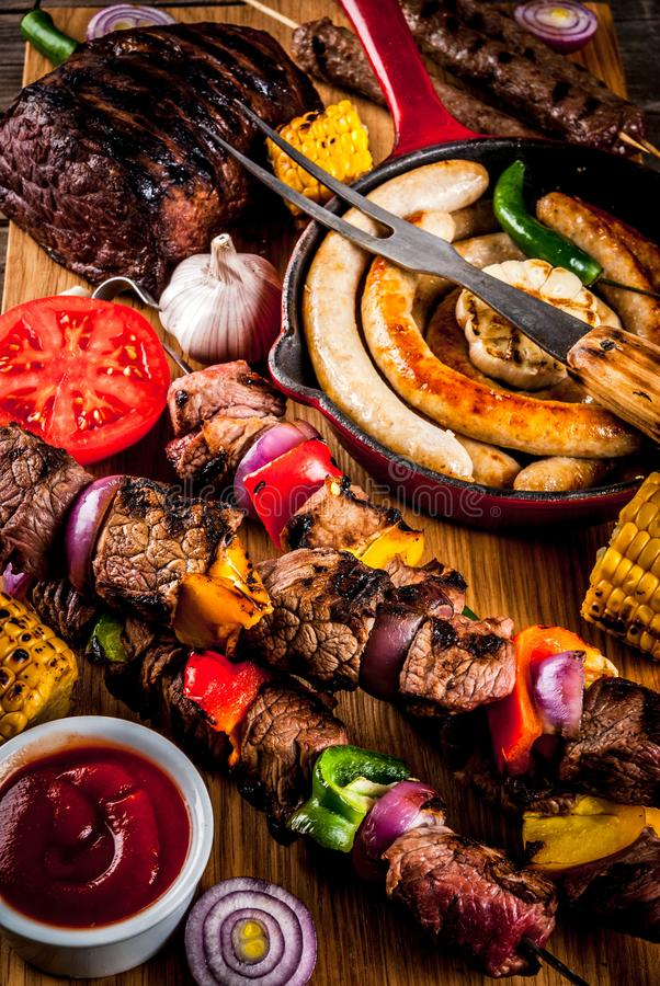 Various barbecue grill food stock photography